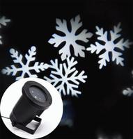 ponto do projetor venda por atacado-Floco de Neve de natal Luzes Laser Snow LED Paisagem Luz Ao Ar Livre Decoração Do Jardim Do Feriado Projetor Moving Spot Spotlight AC 110-265 V