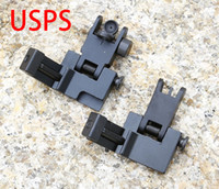 Wholesale Ar Free - AR Front and Rear Flip up 45 Degree Rapid Transition Backup Iron Sight Set Free Shipping