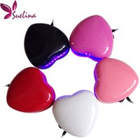 Wholesale Uv Led Light Gel Kit - Wholesale- Nail Dryer Tools Gel Polish Heart Shaped 3W 220V LED Nail art UV Curing Lamp Faster Dryer Gel Light Spa Kit Led Lamp cute color