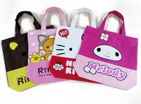 Wholesale Rilakkuma Bear Big - New big size school book bag shoulder bag,shopping bag B-219,44*43cm eco-friendly Rilakkuma Bear pink travel bag