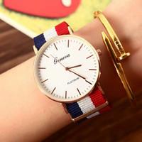 Wholesale dw style resale online - For GW Watches Fashion Casual Quartz Watch Women Dress Quartz Nylon Gril Student Watches For DW Clock Lady elegant Style