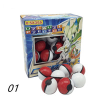 Multicolor pokemon toy balls - 2017 The Cute Pocket Action Anime Figures pikachu figure PokeBall Super Ball poke Ball Kids Toys Gift fashion A17040710