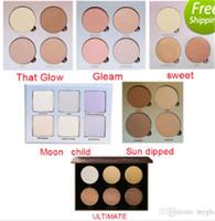 Wholesale Sun Glow Wholesale - 2017 Popular Glow Face Blush Powder Blusher Bronzer- Gleam That Glow Sun Dipped Sweet Moon Child Ultimate Glow modern palette 50pcs
