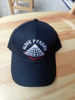 Wholesale Free Style Pyramid - Wholesale- High quality New style adjustable men Hats hip hop Unisex pyramid Baseball Caps Casual black white red diamond hat