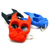 Wholesale The Bulldog Head Survival Keychain Self Defense Tools Brutus Dog Portable Fist Keychain Windows Broken Duron Drill Finger Ring B003