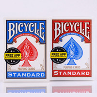 Wholesale Bicycle Play Cards - Blue Red Bicycle Poker USA Original Bicycle Playing Cards Rider Back Standard Decks Cards With Free Shipping