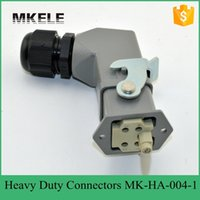 Wholesale 4 Pin A V Rectangular Plug Connector Core Air Plug Runner Connector Automotive Connectors MK HA