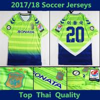 Wholesale Hyundai S - 2018 K-League Jeonbuk Hyundai Motors home soccer jersey,thai quality soccer jersey 17 18 Maillot De Foot Football shirts