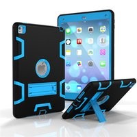Wholesale Ipad Air Full Cover - Hybrid Tablet Case For Apple iPad Air 2   iPad Pro 9.7 Inch Cover Heavy Duty Shockproof 360 Full Body Protection With Kickstand