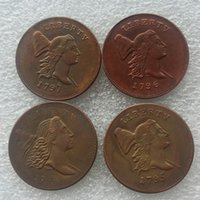 Wholesale new art heading online - A set of LIBERTY CAP HALF CENT HEAD RIGHT coins copy Copper High Quality