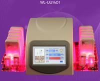 máquina de láser para quemar grasa al por mayor-Más nuevo diseño de alta calidad Pérdida de grasa 5mw 635nm-650nm Lipo Láser 14 Pads Eliminación de celulitis para quemar grasa Cuerpo de belleza que forma la máquina de adelgazamiento