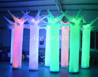 Wholesale 2 m tall beautiful standing lighting Avenue Inflatable Baobab tree big artificial tree for decorations in the USA