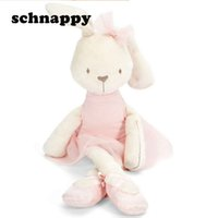 Wholesale Kid Pillow Pet - Cute Stuffed Plush Rabbit Toy For Baby Girls Kids Soft Kawaii Toy Children Big Bedding Pillow Baby Girls Bow Dress Pets Toys