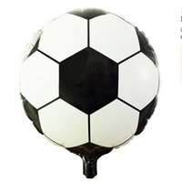 """Wholesale Tail Balloons - 20pcs Free Shipping 18"""" Round Soccer Football Inflatable Toys For Children Games Kids Happy Birthday Party Decorations"""