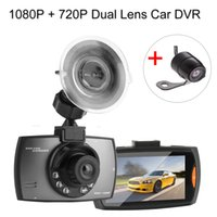 Wholesale Av Cam - 1080P + 720P Dual LENS Recorder HD Car Camera HDMI AV Mini Car DVR Dashcam with Night Vision Car Dash Cam Video Recorders