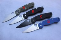 Wholesale New C81 Paramilitary Knife Blue Black camouflage G10 Satin Plain Clip point Folding blade knife Thumb Hole gifts