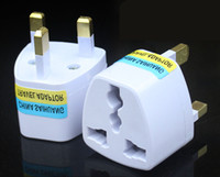 Wholesale British Socket - UK Travel Adapter Universal to United Kingdom Foreign Socket Converter World Power Plug 3 pin Convertor Plugin Port Outlet Home Wall British