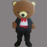 Wholesale mascot costume wedding - Wedding Bear Adult Size Mascot Costume Fancy Birthday Party Dress Halloween Carnivals Costumes With High Quality