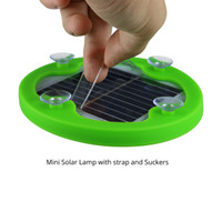 Mini Linterna Solar 8 LED Linterna con Suckers Correa Impermeable IPX6 Portable Picnic Camping Natación Al Aire Libre Tent Fishing Wholesale Retail Box