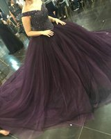 Wholesale Backless Sparkling Dress - Sparkle Beaded Sequined 2018 Prom Dresses Ball Gown Off Shoulders Puffy Long Party Formal Evening Gowns Robe de soriee