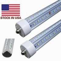 Wholesale Pin Angle - V-Shaped Single Pin FA8 T8 Led Light Tubes 4ft 5ft 6ft 8ft Cooler Door Led Tubes 270 Angle AC 85-265V UL CSA