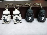 Wholesale Action Man Car - STAR WARS Keychain 3d Star Wars Darth Vader Action Figure Toys Keyrings High Quality Key Chian Pendant Accessories