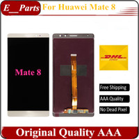 Wholesale Huawei Fhd - For Huawei Mate 8 LCD FHD 6.0 inch lcd display + touch Screen Panel Replacement Black & White & Gold Fast Free shipping