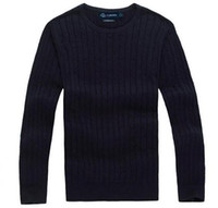 Wholesale animal horse games online - new high quality mile wile polo brand men s twist sweater knit cotton sweater jumper pullover sweater Small horse game
