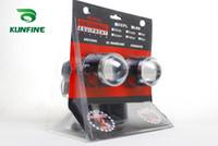 xenon-projektor licht großhandel-12V / 35W Auto HID Xenon Projektorlinse Nebelscheinwerfer mit H3 HID Birne 6000K Nebelscheinwerfer für Autoscheinwerfer