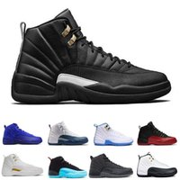 Wholesale Table Basketball Game - 2017 air retro 12 Men Basketball Shoes ovo white GS Barons TAXI Flu Game gamma blue Playoffs French Blue wolf grey Varsity red
