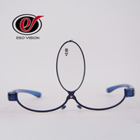 Wholesale Vintage Magnifier - Hot Sale Read Eyeglasses for Woman Red Stainless Steel Oval Read glasses Purple Fashion Revolve Vintage Magnifier Blue Brand Designer China