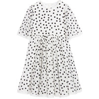 Wholesale Enfant Lace Dresses - W.L.MONSOON Robe Enfant Girls Costumes Princess Dress 2017 Brand Toddler Girls Summer Dresses Lace White Polka Dot Kids Clothes
