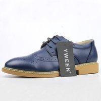 Wholesale Cheap Purple Wedding Shoes - Men Oxfords Formal Shoes Fashion Men Dress Casual Simple Leather Business Brand Cheap High Quality Oxford Shoes For Men
