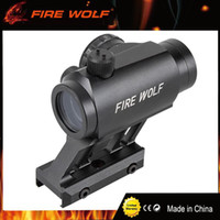 WOLF DE FOGO Tactical 1x Red Dot Sight Escopo para High Picatinny Rail Mount Base Hunting Shooting