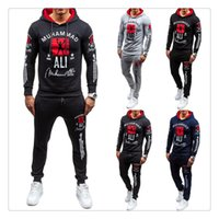 Wholesale Men Ankle Length Pants - Tracksuit for Men 2017 Hoodies+pants Brand Hoodie Slim Fit Men Hoody US Size:S-XXL