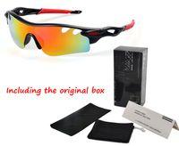 lunettes de sport de vélo achat en gros de-Cyclisme Marque designer lunettes de soleil pour Hommes Femmes D'été Vélo Sports Lunettes UV400 Lunettes De Protection 8 Couleurs Lunettes De Soleil avec la boîte Au Détail