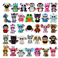 Wholesale Simulation Animal Toys - TY beanie boos Plush Toys simulation animal TY Stuffed Animals super soft 6inch 15cm children gifts E135