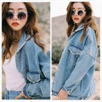 Wholesale Denim Jacket Vintage - Uwback New Oversized Denim Jacket Women Plus Size Loose Jeans Jacket Women Washed Denim Jackets Women Coat
