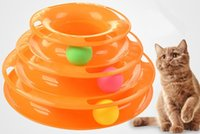 Wholesale Cat Three - Three Levels Tower of Tracks Interactive Cat Toys Orbital Ball Cat Toy Pet Cat Ball Toys Amusement Plate for One or More Cats