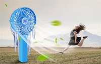 Wholesale Handheld Folding Fans - 2017 New USB Rechargeable Handheld Mini Fan Lithium Battery Portable Summer Energy Conservation Folding Cooling Fan
