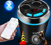 Wholesale Car Bluetooth Handsfree Kit FM Transmitter Cigarette Lighter Radio MP3 Player TF AUX W Port USB Charger hot