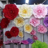 Wholesale Branches For Wedding Decorations - 50 60 70 80cm Large artificial flowers Peony Wedding background Decorative flower branches silk flowers for home decoration
