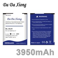 Wholesale Lg E455 - Da Da Xiong 3950mAh BL-44JH Battery for LG Optimus L4 II E440 Optimus L5 II E460 Optimus L5 II E455 MS770 L7 P700 P705