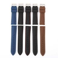 Wholesale Crocodile Watchband - Band Silicone Rubber Strap Watch Crocodile Pattern Brown Black 20 22mm Durable Watchbands