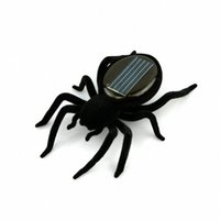 Wholesale Small Plastic Robot Toy - Wholesale-Funny Educational Smallest Solar toys Powered Spider Robot Toy Gadget for Kids Gift