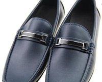 oxford best dress shoes venda por atacado-Melhor Qualidade de Couro Real de Couro Dos Homens Sapatos Casuais Designer de Luxo Oxford Mocassin Sapatas de Vestido Zapatos Hombre 40-46