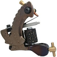 Wholesale Damascus Liner Shader - 5Pcs lot Professional Damascus Tattoo Machine 10 Wrap Coils Iron Cast Frame Custom Tattoo Gun For Liner Shader DTM-7592