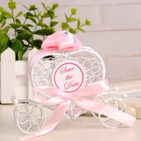 Wholesale Candy Box Cars - 30PCS Creative European-style tinplate heart shaped candy box flower car candy box romantic wedding supplies,3 color for option