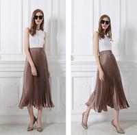 Wholesale Summer Skirts Large - Hot Quality The Fashion Women Skirts High-grade silk elastic waist skirts Colors Large size XXL Skirts.