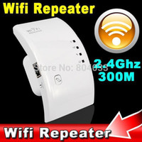 Wholesale Wifi Signal Amplifier W - Wireless Wifi Repeater 802.11N B G Network Router Expander W-ifi Antenna Wi fi Roteador Signal Amplifier Repetidor US EU Plug